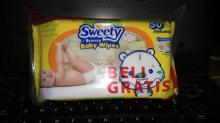 SWEETY Bronze Baby Wipes 50'S Perfumed