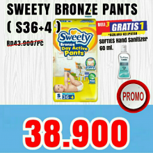 SWEETY BRONZE Pants S36 + 4